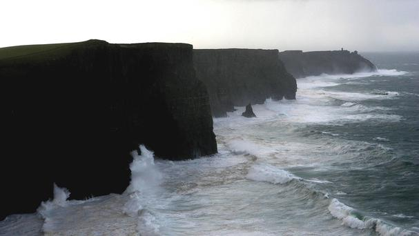 The visitors' centre at the Cliffs of Moher was closed