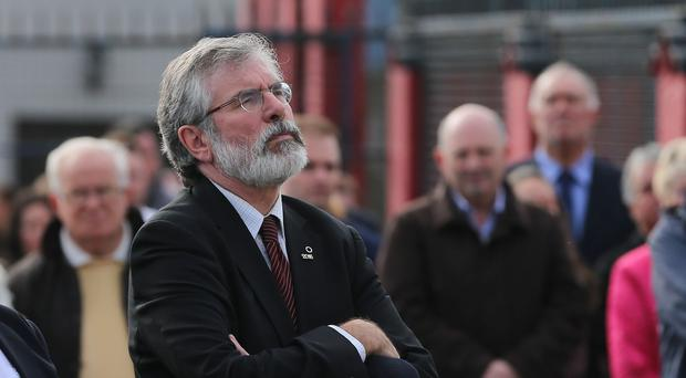 Gerry Adams has wished retiring DUP leader Peter Robinson well