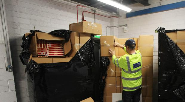 Customs officers made the seizure after inspecting a truck that had arrived in Rosslare port from Cherbourg in France