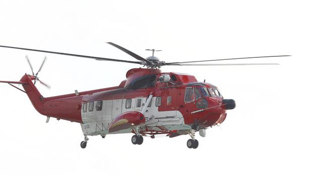 An Irish Coast Guard helicopter was on the scene within minutes