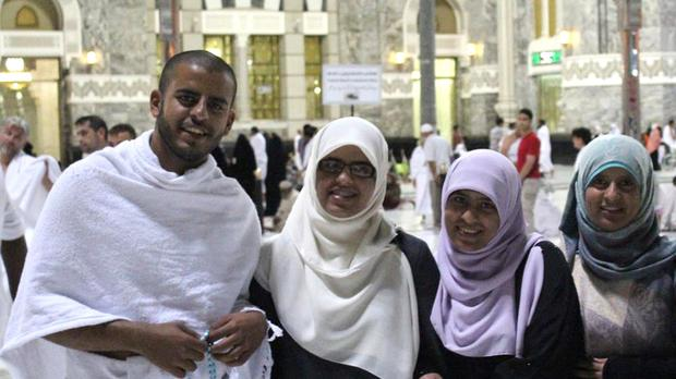 Ibrihim Halawa pictured with his sisters Fatima, Omaima and Somaia