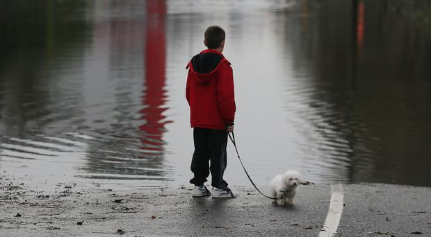 Corbally in Limerick is flooded