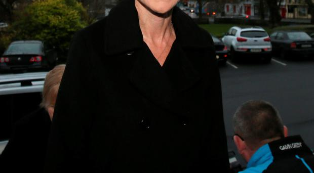 Cranberries singer Dolores O'Riordan outside Ennis District Court yesterday