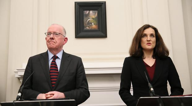 Theresa Villiers and Charlie Flanagan will meet in Dublin