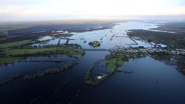 Flooded fields at Shannonbridge earlier this month