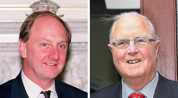 Sir Richard Needham, left, was branded sly, devious and unionist-minded by Eddie McGrady, right