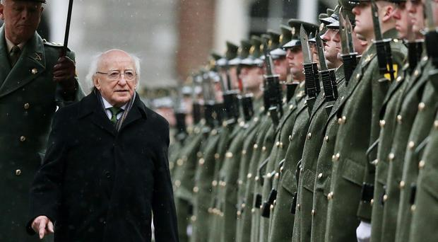 Michael D Higgins was speaking while visiting flood-affected regions