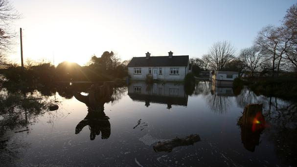 A flooded home in Carrickobrien