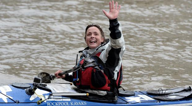 British adventurer Sarah Outen completed the four-and-a-half year London2London: Via the World expedition