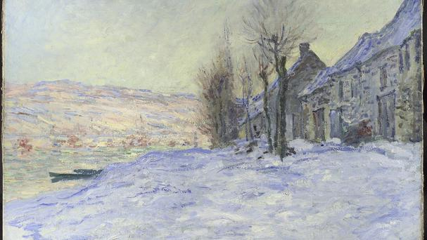 Claude Monet's Lavacourt Under Snow is among the paintings (National Gallery/PA)