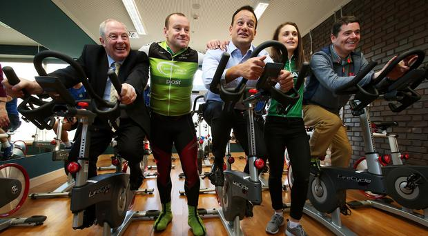 Minister for Health Leo Varadkar (centre) as the Government launched Ireland's first National Physical Activity Plan