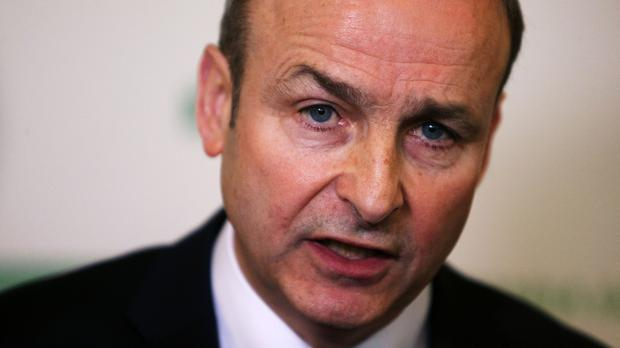 Micheal Martin made the pledge at his party's ard fheis
