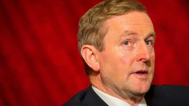 Enda Kenny took part in a panel discussion on the second day of the forum in Davos, Switzerland