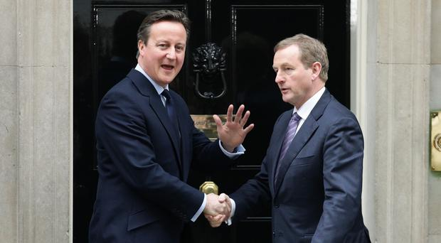 David Cameron seemed to indicate support for the policies of Taoiseach Enda Kenny