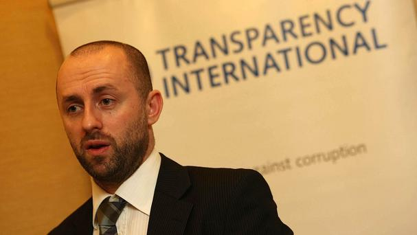 John Devitt, chief executive of Transparency International, called on political leaders to commit to reforms