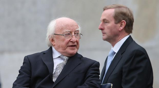 Enda Kenny will ask President Michael D. Higgins to dissolve the Dail