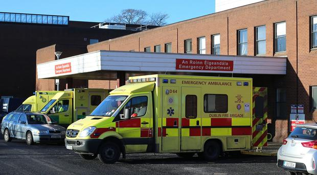 Ambulances outside Beaumont Hospital in Dublin