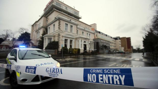 The attack was at the Regency Hotel in Dublin