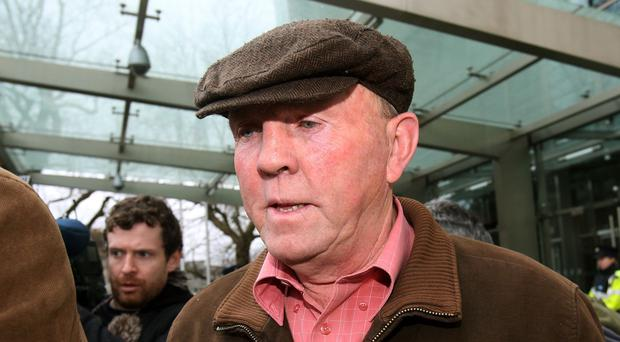 Alleged former IRA chief Thomas 'Slab' Murphy leaves the Special Criminal Court in Dublin