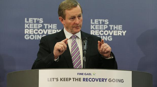 Taoiseach Enda Kenny addresses staff on a visit to Paypal in Dundalk