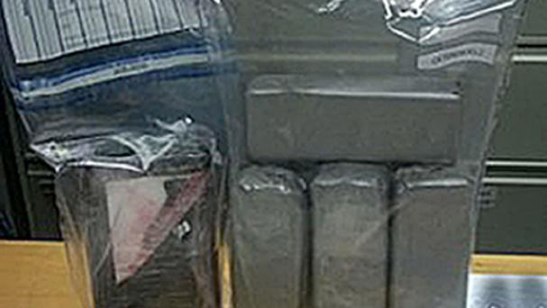 Heroin and cocaine with an estimated street value of half a million euro was seized (Garda/PA)
