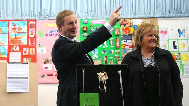 Taoiseach Enda Kenny and his wife Fionnuala cast their votes