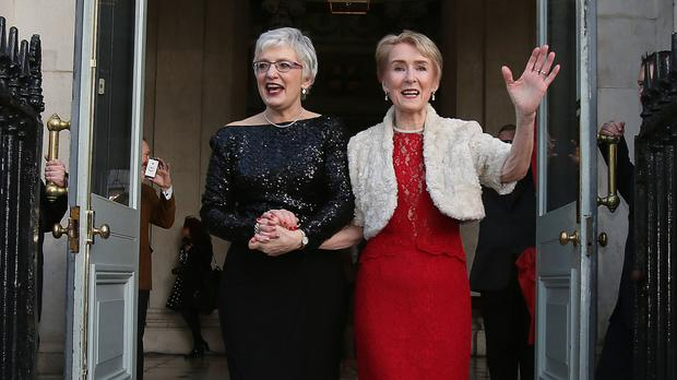 Katherine Zappone, left, is the new TD for Dublin South West