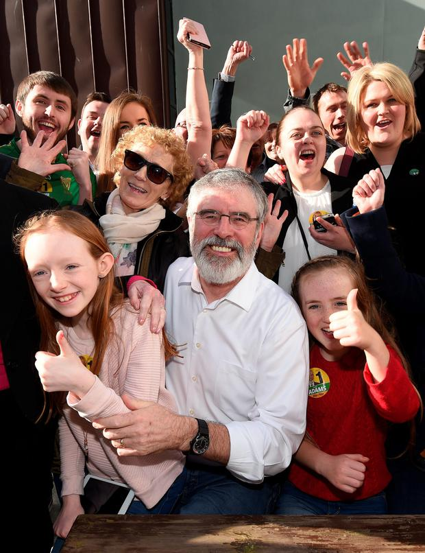 Dismissed claims: Gerry Adams
