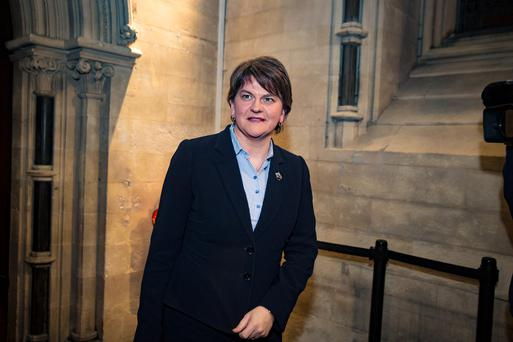 First Minister Arlene Foster scored 45 in the poll.