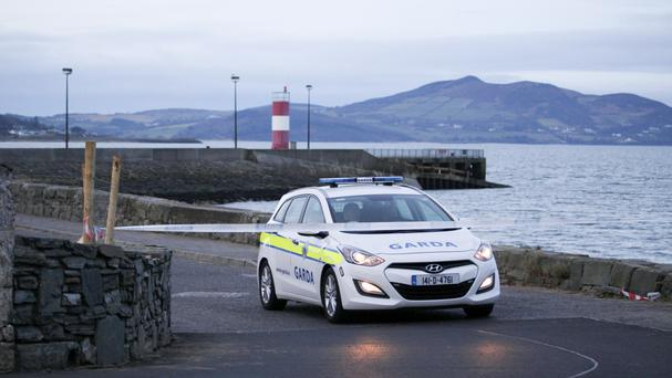 The scene at Buncrana Pier in Co Donegal