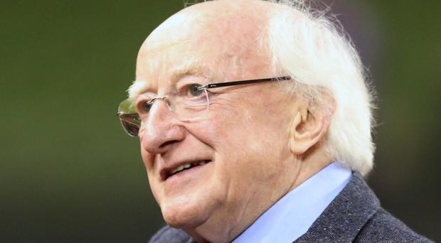 President Michael D Higgins said the aspirations of socialists in the Rising can inspire the rebuilding of Ireland's society and economy