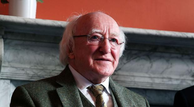 President Michael D Higgins was due to be guest of honour at the commemorative event in Belfast City Hall on April 8