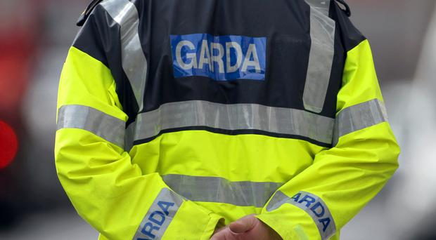 Garda in Dublin have recovered a haul of suspected explosives after stopping a car on one of the Republic capital's western approaches