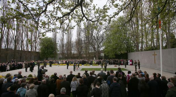 The religious ceremony to commemorate the centenary of the 1916 Easter Rising leaders at Arbour Hill Cemetery, Dublin