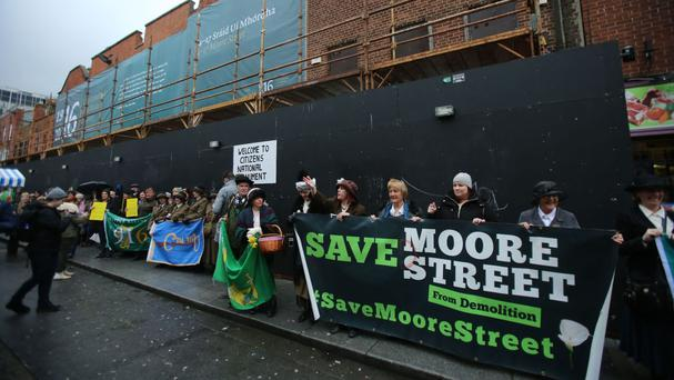A campaign was launched to save Moore Street