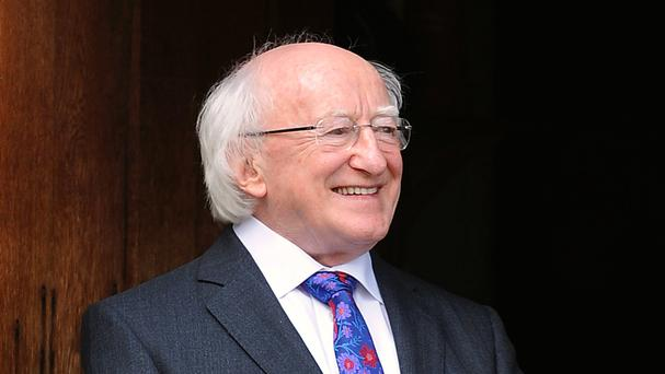 President Michael D Higgins said it was time for political leaders to move beyond words and initiate action