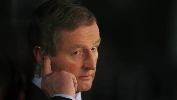 Enda Kenny vowed the government would not back down under the threat