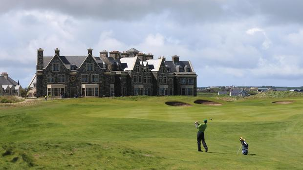 Donald Trump's Doonbeg golf links course and hotel in Co Clare