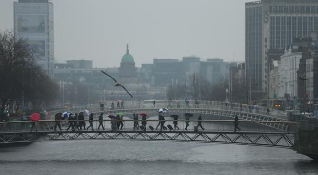 An area of Dublin city centre is being redeveloped