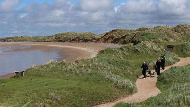 The proposal is to put a wall between the dunes beside Doonbeg Golf Links course and the beach.