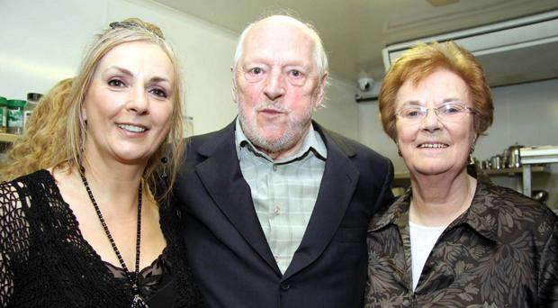 Leo Brennan, father of Enya, with his daughter Moya Brennan and wife Baba