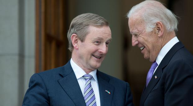 Enda Kenny with Joe Biden