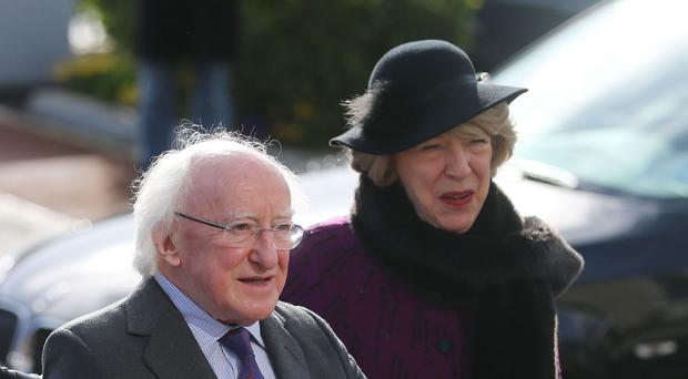 Irish president Michael D Higgins and his wife Sabina