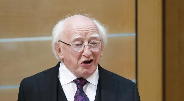 Irish president Michael D Higgins says democracy must stand firm in the face of terrorism