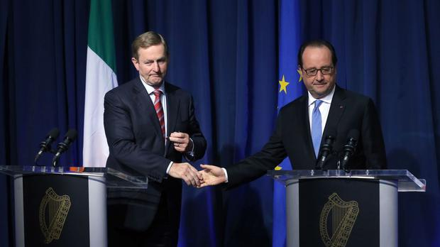 Taoiseach Enda Kenny and French President Francois Hollande meet in Dublin