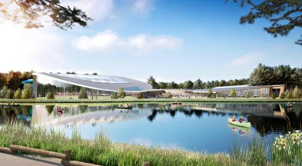 How the Subtropical Swimming Paradise and Village Centre at the Longford Forest resort will look when finished