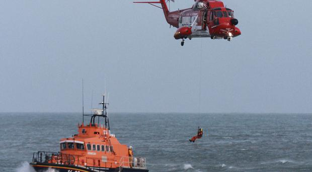 The Irish Coast Guard and RNLI were involved in the search