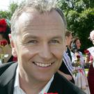 Daithi O Se resumed his interview with the female contestant after the interruption (RTE/PA)