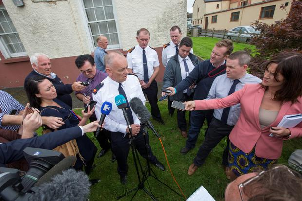 Assistant Commissioner Jack O'Driscoll during a Press briefing in Ballyjamesduff yesterday