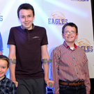 Alan Hawe with his children Ryan, Liam and Niall